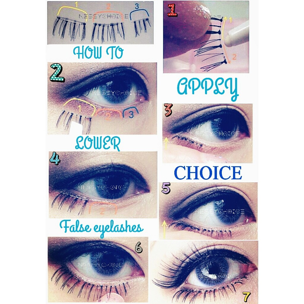 HOW TO APPLY LOWER FALSE EYELASHES